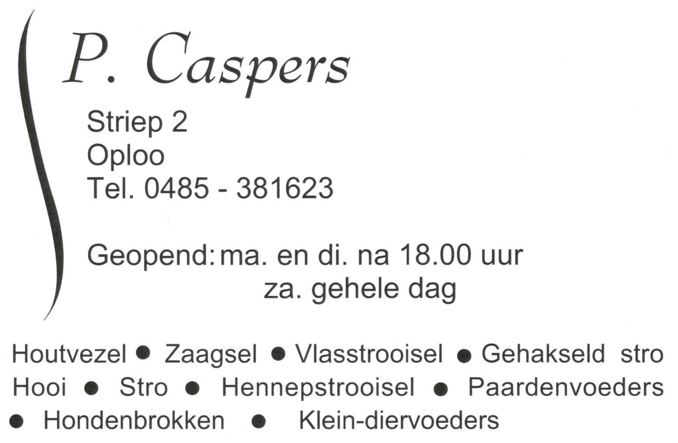 Caspers Diervoeders